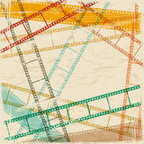 Vintage scratch background with film frame. Vector Stock Photos
