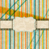 Vintage scratch background with film frame. Vector Royalty Free Stock Photography