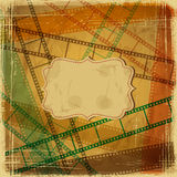 Vintage scratch background with film frame Royalty Free Stock Image