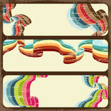 Vintage scratch banners with place for text Royalty Free Stock Image