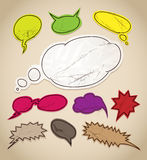 Vintage scratched speech bubbles Stock Image
