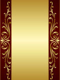 Vintage scroll background in red golden Stock Photography