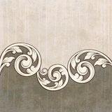 Vintage scroll engraving pattern grunge background Royalty Free Stock Image