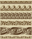 Vintage scroll ornaments Royalty Free Stock Photography