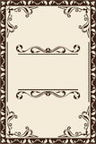 Vintage scroll page Royalty Free Stock Photography