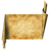 Vintage scroll paper Stock Image