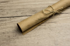 Vintage scroll of paper Royalty Free Stock Photo