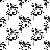 Vintage Scrolling Floral Seamless Pattern Stock Photos
