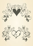 Vintage scrolls.Design elements. Royalty Free Stock Photography
