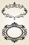 Vintage scrolls and frame. Royalty Free Stock Images