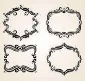 Vintage scrolls and frame. Stock Photos