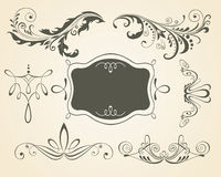 Vintage scrolls, frame. Design elements. Royalty Free Stock Images