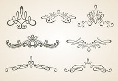 Vintage scrolls and frame. Design elements and pag Royalty Free Stock Photos