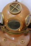 Vintage scuba helmet Stock Images
