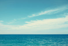 Vintage sea and cloudy sky Stock Image
