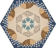 Vintage sea pattern Stock Image