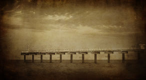Vintage sea picture Royalty Free Stock Photography