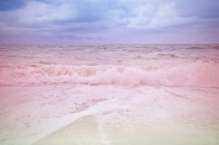 Vintage seaa and beach storm cloud Stock Images