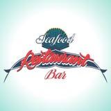 Vintage Seafood Label. Restaurant menu. Vintage and Modern Seafood Label. Restaurant Logo. Restaurant menu Stock Image