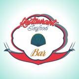 Vintage Seafood Label. Restaurant menu. Vintage and Modern Seafood Label. Restaurant Logo. Restaurant menu Royalty Free Stock Photography