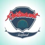 Vintage Seafood Label. Restaurant menu. Vintage and Modern Seafood Label. Restaurant Logo. Restaurant menu Stock Images