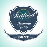 Vintage Seafood Label. Restaurant menu. Vintage and Modern Seafood Label. Restaurant Logo. Restaurant menu Stock Photography