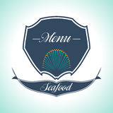 Vintage Seafood Label. Restaurant menu. Vintage and Modern Seafood Label. Restaurant Logo. Restaurant menu Stock Photos