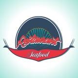 Vintage Seafood Label. Restaurant menu. Vintage and Modern Seafood Label. Restaurant Logo. Restaurant menu Stock Photo
