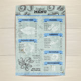 Vintage seafood menu design. Royalty Free Stock Photography
