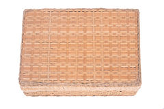 Vintage seagrass box. Separated on white background Stock Photo