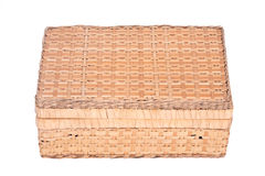 Vintage seagrass box. Separated on white background Royalty Free Stock Images