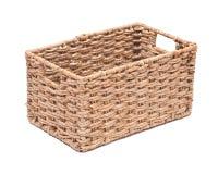 Vintage seagrass storage basket Stock Photo