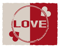 Vintage seal Love background Stock Photography
