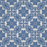 Vintage seamless background in blue Stock Image