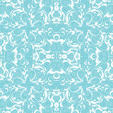 Vintage seamless background, blue and white decor Royalty Free Stock Photos