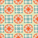 Vintage seamless background with circles, squar vector illustration