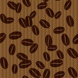 Vintage seamless background with coffee beans. Royalty Free Stock Images