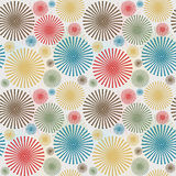 Vintage seamless background with dotted flowers Stock Image