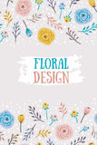 Vintage seamless background with field flowers and herbs. Vector dark floral pattern Stock Photography
