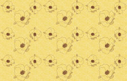 Vintage seamless background with flowers wild rose. There is a variant in the Stock Photos