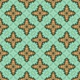 Vintage seamless background with geometrical floral design Royalty Free Stock Photography