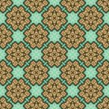 Vintage seamless background with geometrical floral design Royalty Free Stock Image
