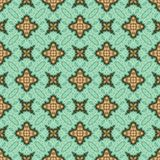 Vintage seamless background with geometrical floral design Stock Image