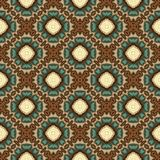 Vintage seamless background with geometrical floral design.  Royalty Free Stock Images