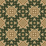 Vintage seamless background with geometrical floral design Royalty Free Stock Photo
