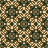 Vintage seamless background with geometrical floral design Stock Images