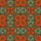 Vintage seamless background with geometrical floral design Stock Photography