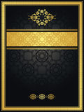 Vintage seamless background with gold frame Royalty Free Stock Photo