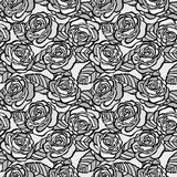 Vintage seamless background of gray roses Royalty Free Stock Photography