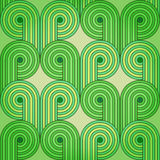 Vintage seamless background with green sprouts Royalty Free Stock Images